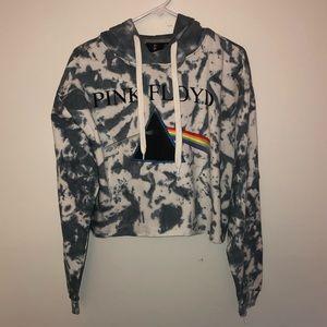 Tops - Pink Floyd Graphic Tie Dye Cropped Sweatshirt